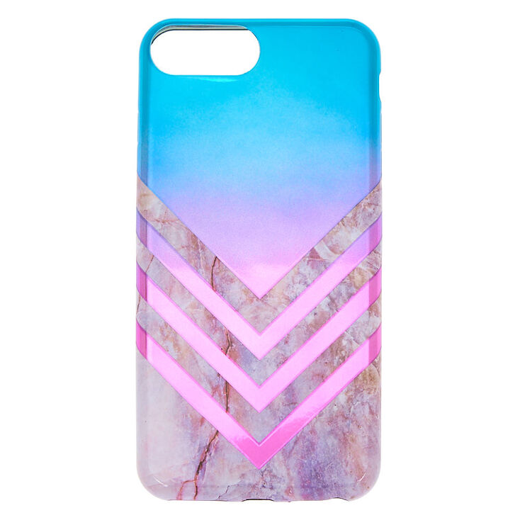 Metallic Ombre Geometric Phone Case - Fits iPhone 6/7/8 Plus,