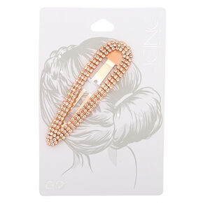 Rose Gold Rhinestone Statement Snap Clip,