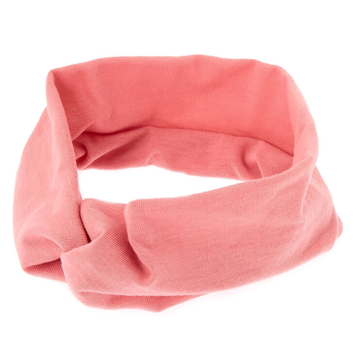 Wide Jersey Twisted Headwrap - Light Rose,