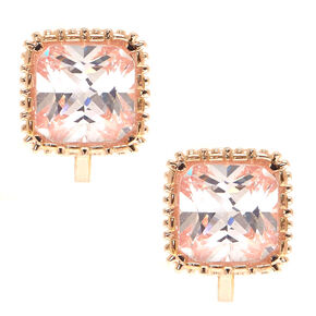 8MM Cubic Zirconia Clip On Stud Earrings,