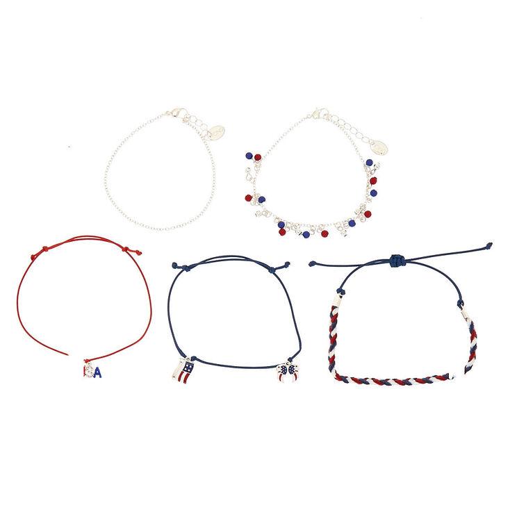 USA Mix Bracelets - 5 Pack,