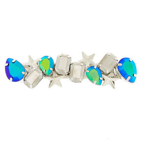 Cosmic Bling Hair Barrette - Turquoise,