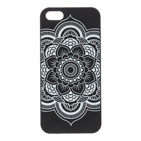 Black & White Mandala Glow in the Dark Phone Case,
