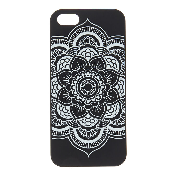Black & White Mandala Glow in the Dark Phone Case,