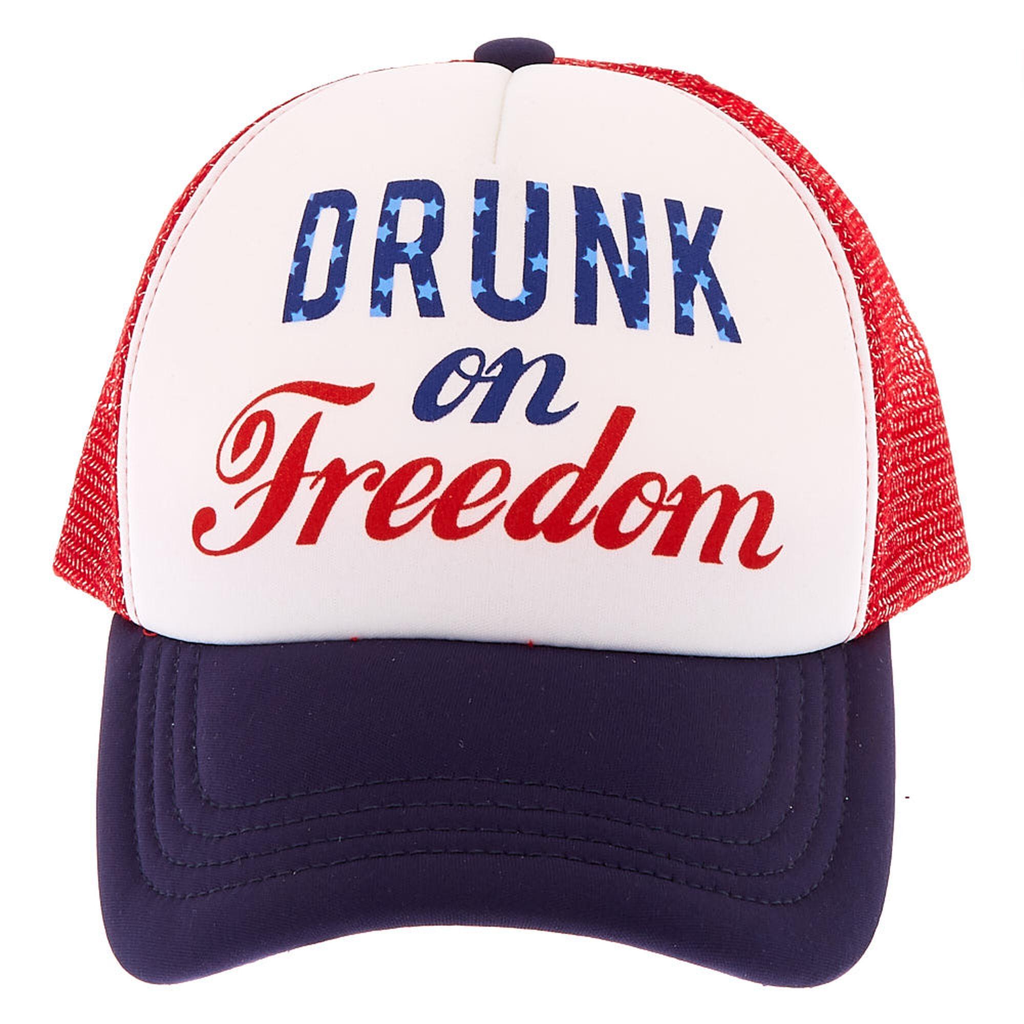 d2d9d954a Drunk on Freedom Trucker Hat