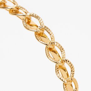 Gold Chain Link Headband,