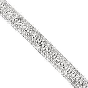 Silver Rhinestone Royal Chain Bracelet,