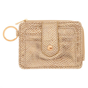 Snake Skin Coin Purse - Gold,
