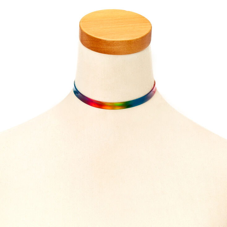 Rainbow Ombre Choker Necklace,