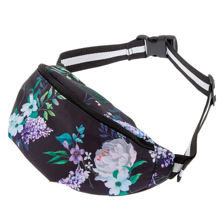 Floral Fanny Pack - Black,