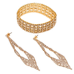 Diamond Earring & Bracelet Set,