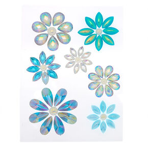Iridescent Flower Skin Gems - Blue,