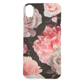 Black Floral Phone Case - Fits iPhone X/XS,