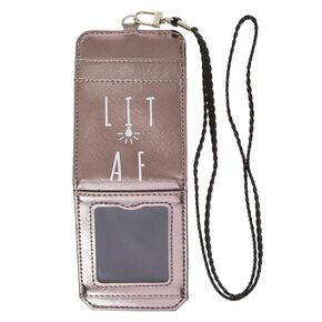 Lit AF Metallic Cardholder,