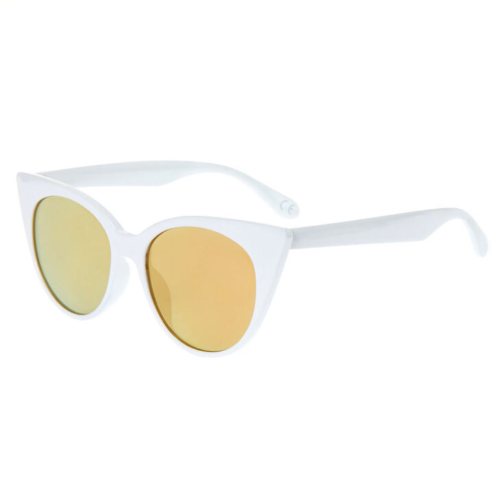 1960s Sunglasses | 70s Sunglasses, 70s Glasses Icing Oversized Mod Cat Eye Sunglasses - White $14.99 AT vintagedancer.com