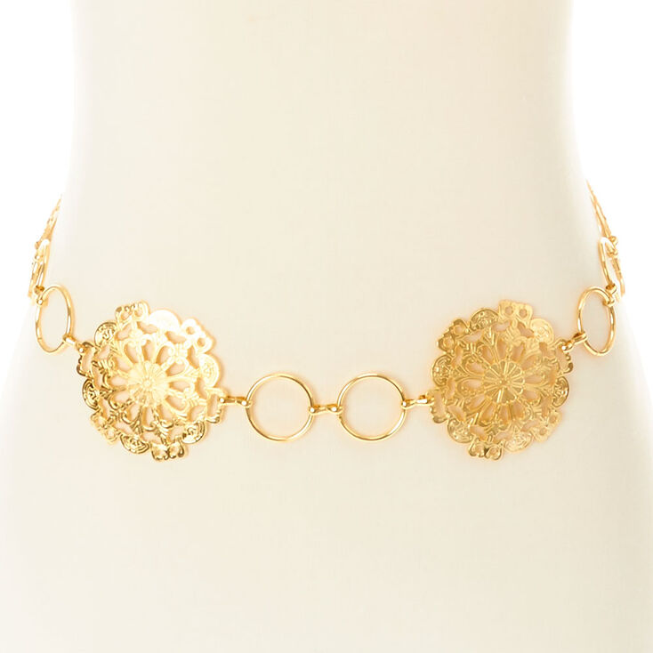 Gold Medallion Belt,