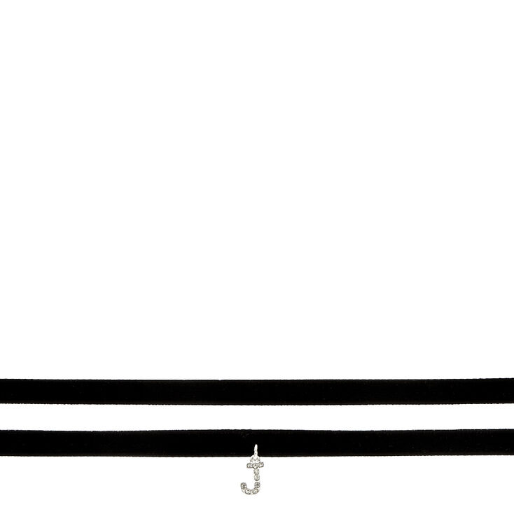 J Initial Choker Necklace 2 Pack,