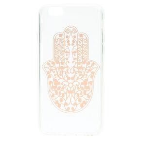 Rose Gold Hamsa Hand Clear Phone Case - Fits iPhone 6/7/8 Plus,