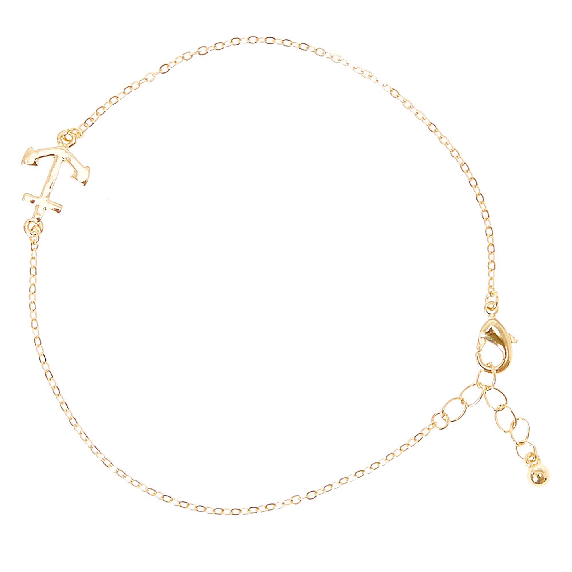tone us anchor icing bracelet simple gold anklet bracelets ankle