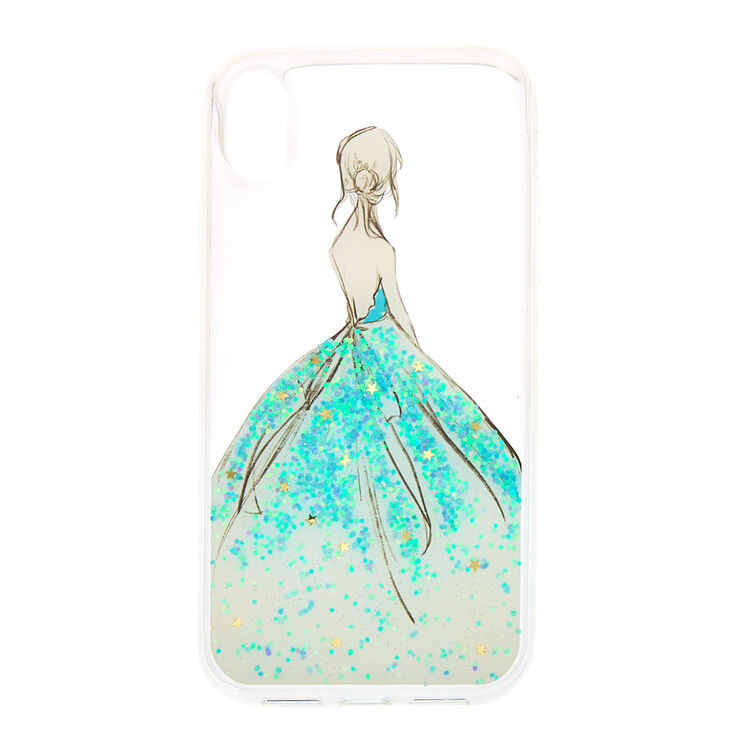 Glitter Gown Clear Phone Case - Fits iPhone XR,