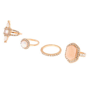 Rose Gold Romantic Rings - 4 Pack,