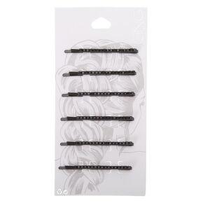 Black Rhinestone Bobby Pins - 6 Pack,