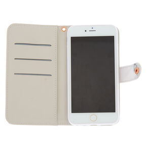 Marble and Rose Gold Folio Phone Case,