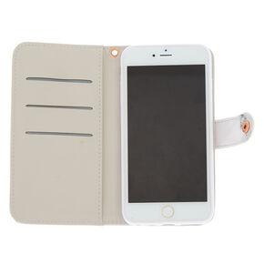 Marble & Rose Gold Folio Phone Case - Fits iPhone 6/7/8 Plus,