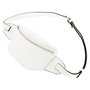 Faux Leather Fanny Pack - White,