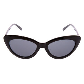 Retro Cat Eye Sunglasses - Black,