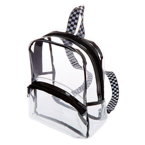 Black Trim Midi Backpack - Clear,