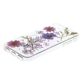 Pressed Flower Glitter Phone Case,