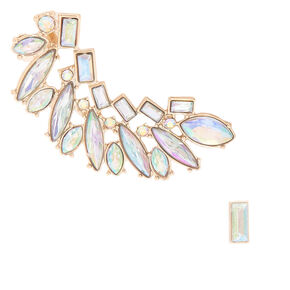 "Crystal 2"" Mismatched Earring Set,"