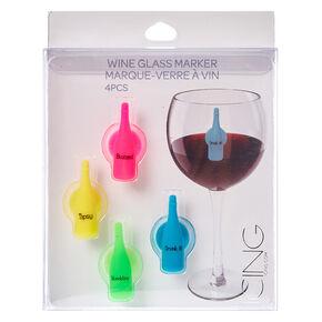 Neon Bottle Wine Glass Markers,