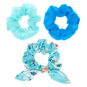 Floral Bow Hair Scrunchies - Mint, 3 Pack,
