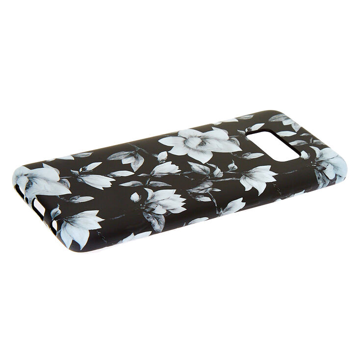 Black & White Floral Phone Case - Fits Samsung Galaxy S8,