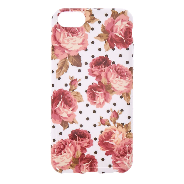 Floral & Polka Dot Phone Case - Fits iPhone 6/7/8,
