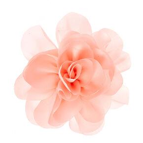 Satin Flower Hair Clip Brooch - Blush Pink,