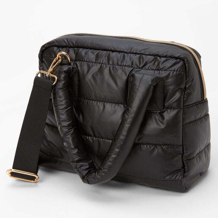 Slouchy Duffel Crossbody Tote Bag - Black,