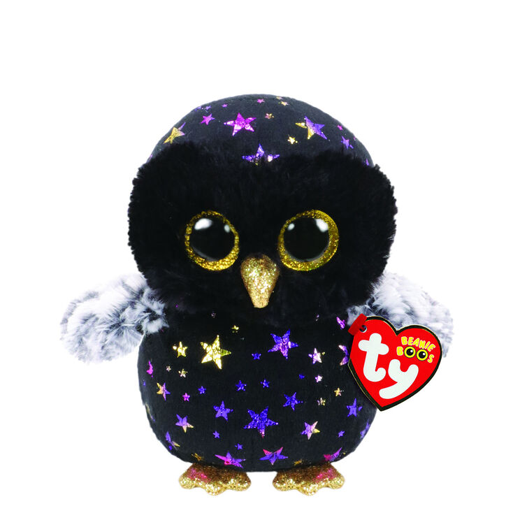 Ty Beanie Boo Small Hyde the Owl Plush Toy,