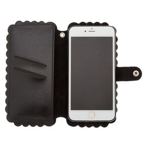 Scalloped Folio Phone Case - Fits iPhone 6/7/8 Plus,