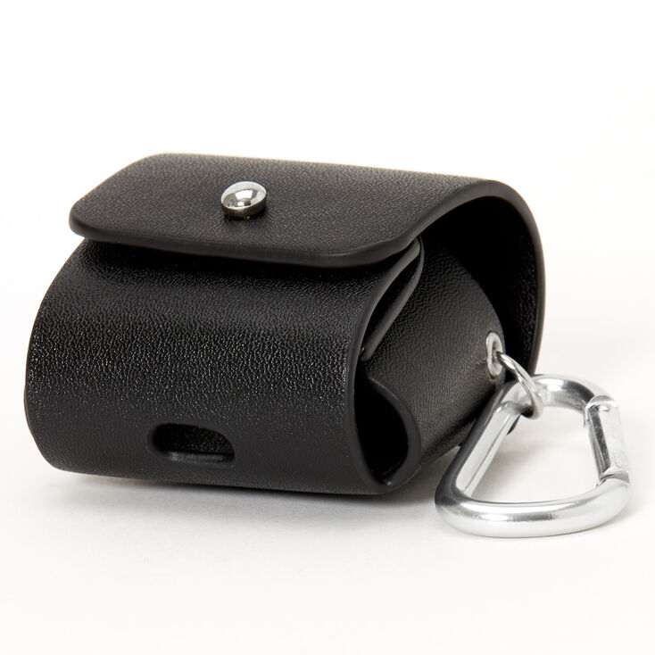 Black Earbud Pouch Case Cover - Compatible With Apple AirPods,