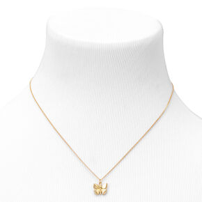 18kt Gold Plated Butterfly Refined Pendant Necklace,