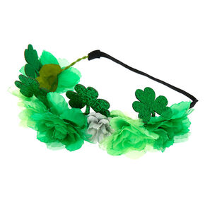 Shamrock Flower Crown Headwrap - Green,