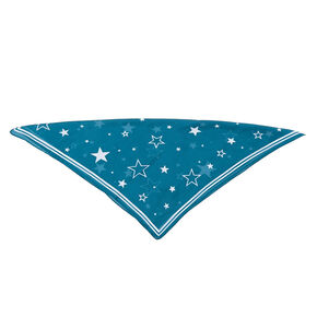 Stars Fashion Neck Scarf - Teal,