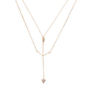 Rose Gold Bow & Arrow Pendant Necklace,