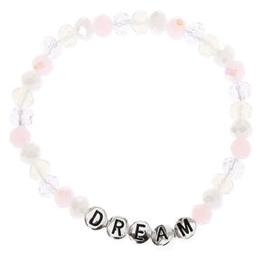 Dream Holographic Beaded Stretch Bracelet - Clear,