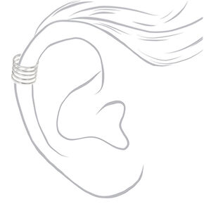 Mixed Metal Wire Ear Cuff Earrings - 3 Pack,