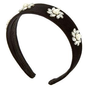 Velvet Stone Headband - Black,