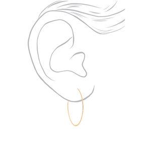 Gold 40MM Hammered Circle Hoop Earrings,